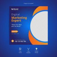 banner för digital marknadsföring för sociala medier vektor