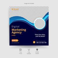 mall för digital marknadsföring sociala medier