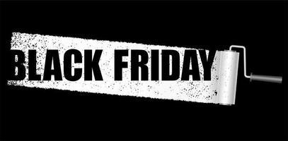 schwarzer Freitag Farbe Verkauf Banner