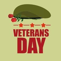 veterans dag usa semester design vektor