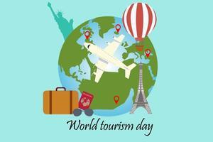 världsturism dag affisch