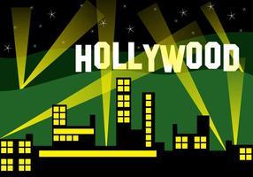 Hollywood city landskap vektor