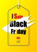 gelbes Werbeschrift für schwarzen Freitag