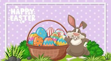 affischdesign för påsk med påskharen