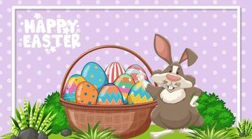 Plakatentwurf für Ostern mit Osterhase