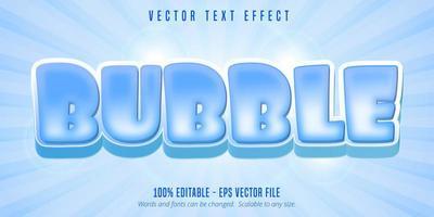 bearbeitbarer Texteffekt im Bubble-Cartoon-Stil vektor