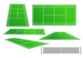 Tennisplatz Vektor Set