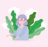 Porträt der weiblichen Figur der Großmutter