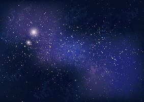 galaxbakgrund med stjärnor och nebulosa vektor