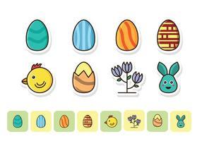 Kostenlose Ostern Icon Set vektor