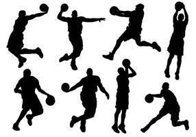 Sport Siluetas Icons Vektor