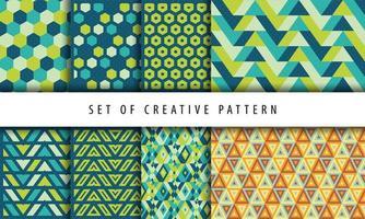 uppsättning kreativa geometriska mönster