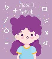 tillbaka till skolans affisch med studentflickan