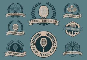 Padel club logos vektor