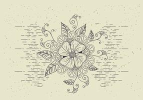 Kostenlose Vektor Blume Illutration