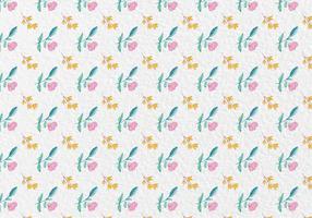 Free Vector Aquarell Frühling Blumen Muster