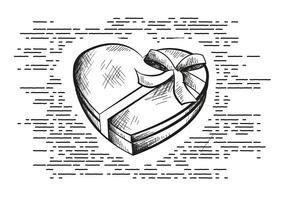 Freier Valentinstag Vektor Hintergrund