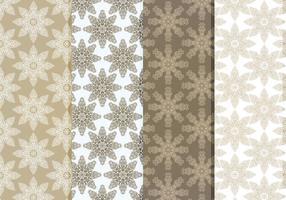 Vector Delicate Schneeflocken Pattern Set