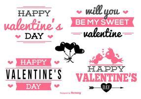 Valentinstag Etiketten Sammlung vektor