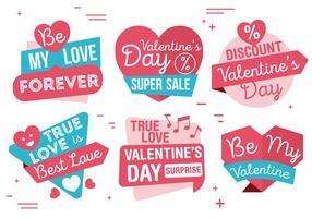 Vektor Valentinstag Etiketten