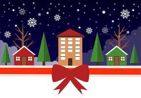 Gratis Vinter Vector Landscape Illustration