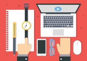 Kostenlose Digital-Marketing-Business-Vektor-Illustration