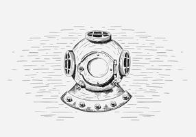 Free Vector Tauchen Helm Illustration