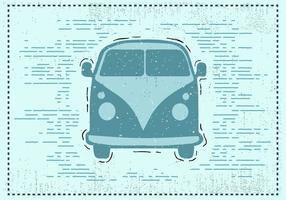 Freie Hand gezeichneter Weinlese-Auto-Hintergrund vektor