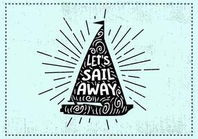 Fri handdragen segelbakgrund vektor