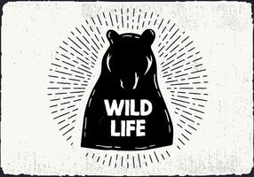 Free Hand Drawn Wild Life Hintergrund vektor