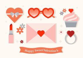 Roliga Vector Valentinsdagelement