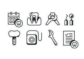 Vektorpaket med Dentista-ikoner vektor
