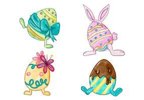 Ostern Tag Eggs Sammlung vektor