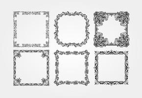 Jahrgang Vector Frames Sammlung