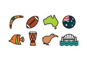 Australien Icon Set vektor