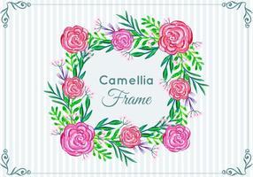 Schöne Free Vector Camellia Rahmen