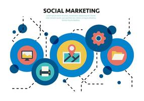 Kostenlose Social Media Marketing Vector Elements