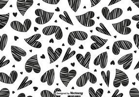 Vektor klotter hjärta sömlösa mönster
