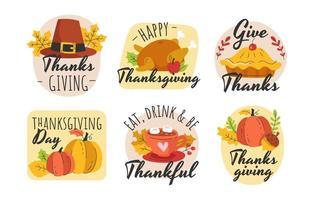 Thanksgiving-Grußaufkleber