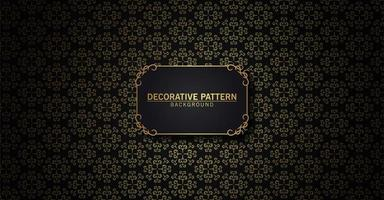 Luxus schwarz und Gold abstraktes Muster vektor