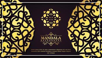 Luxus-Mandala-Karte vektor
