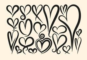 Sammlung von Vektor-Hand gezeichnet Herzen vektor