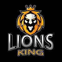 lion esport emblem vektor