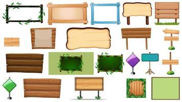 uppsättning av olika typer av skyltbanderoller
