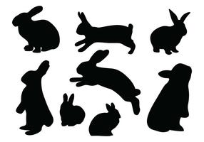 Kaninchen-Silhouette Vektoren