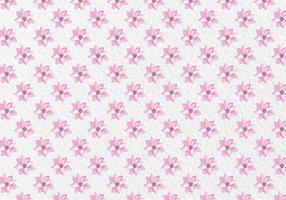 Free Vector Rosa Frühlings-Aquarell-Blumen-Muster