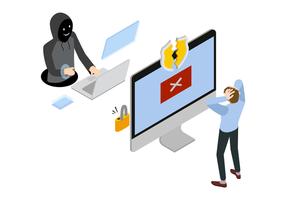 Hacking Identitätsdiebstahl-System Vektor