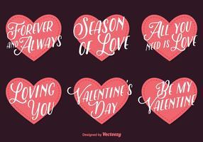 Liebe Beschriftung Vektor Herzen