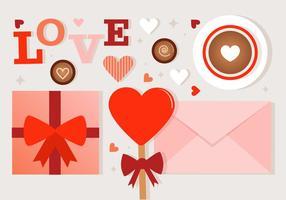Kostenlose Valentinstag Vektor-Elemente
