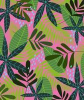tropische Blätter und Laubhintergrund vektor